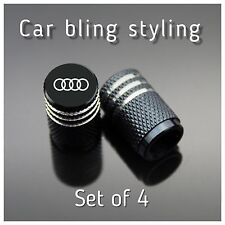 4 Audi Wheel Valves Tire Valve Caps Black Silver Red Sports Dust Caps universal