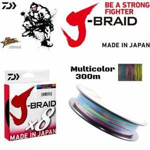 DAIWA 8 Strand Fishing Braid Line J-BRAID 300m/Multicolor