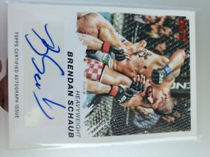 2011 Topps UFC Moment of Truth Brendan Schaub Ruby Red Auto #'d 7/8