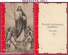 3130 SANTINO HOLY CARD SACRO CUORE DI GESù CRISTO NB AVE / 97 AVE/97 SLOVENO