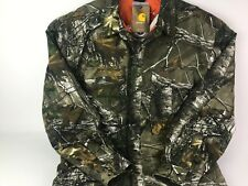 Carhartt Realtree Camo Canvass Quilted Button Up Jacket New With Tags Hunting