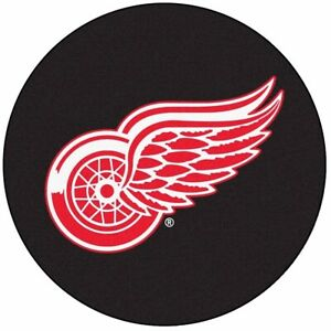 NHL Detroit Red Wings Floor Puck Mat Rug 27 Inch Diameter