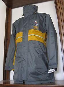 L Men Line 7 Sydney 2000 Olympics S.I. Full-Zip Rain Coat Jacket Gray large EUC