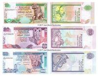 Sri Lanka 10 + 20 + 50 Rupees 2004-2006 Set of 3 Banknotes 3 PCS UNC