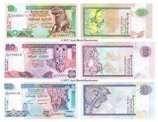 Sri Lanka 10 + 20 + 50 rupias 2004-2006 Conjunto de 3 billetes de 3 Piezas UNC