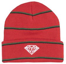 Diamond Supply Co. Striped Red White Black Green Striped Men's Hat Beanie NWT