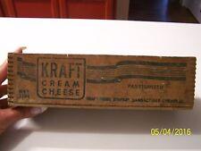 Vintage Wooden Kraft Cream Cheese Box