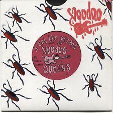 """Voodoo Queens: Eat the Germs - 1995 UK 7"""" Single / Screen-printed sleeve"""