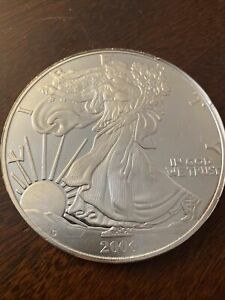 1 Pound Troy 999 Fine Silver Bullion Coin American Eagle Liberty Round Ingot Bar