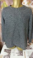 SUPERDRY slim fit MENS WARM WOOL BLEND  GREY JUMPER SIZE 3XL DI