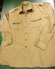 Italian Army Shirt, Dark Green, 18.5 Collar, Smart, Long Sleeves, Exc Condition