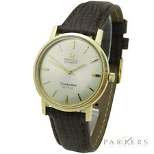 OMEGA SEAMASTER DE VILLE VINTAGE 1CT GOLD AUTOMATIC WRISTWATCH DATING CIRCA 1963