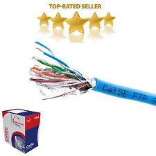 1000ft FTP Cat5e Solid Wire Bulk Ethernet Network Lan Cable RJ45 Blue