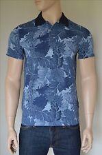 Nueva Abercrombie & Fitch Camisa Polo Clásico Impreso Patrón Floral Azul Marino XL