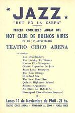 """JAZZ PROGRAM. """"Hot en la Carpa"""" Bs As. O.B.O  Argentina  Big Bands. 1960"""