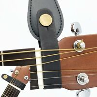 Leather Holder for guitar strap - Safe Lock for Acoustic / Electric / Classical