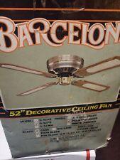 VINTAGE Barcelona 52 Inch 4 - Decorative ceiling fan