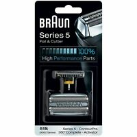 Braun 51S Series 5, Electric Shaver Replacement Foil & Cutter Cassette - SILVER