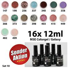 MSE Colorgele: 16 MSE Farbgele je 12 ml = 192 ml - Sonderaktion - Set 010
