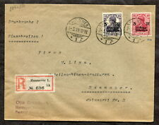 p687 - GERMANY 1919 FDC COVER Germania SURTAX FOR WAR WOUNDED... SIGNED