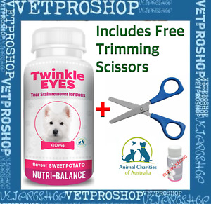 TWINKLE EYES Tear Stain Remover For Dogs - SWEET POTATO 40g Pink (starter pack)