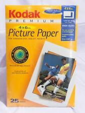 "Kodak Premium High Gloss Picture Paper, 25 4"" x 6"" Sheets New In Package jds"