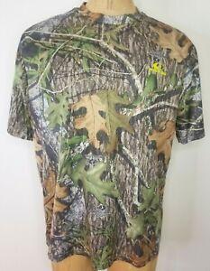 Mossy Oak Obsession Camo T-Shirt Mens XL Dri-More Tech Poly Short Sleeve Hunting