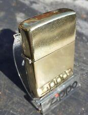 Solid brass Zippo 1984 Commemorative Flat Bottom