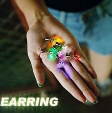 1 Pair LED Glowing Light Up Earrings Fashion Studs Dance Party Jewelry Accessory