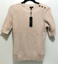 Women's Talbots Pink Cable Knit Sweater Short Sleeve Size Medium NWT