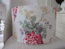 Handmade Drum Lampshade Laura Ashley Wisteria Cranberry Fabric 40 cm size