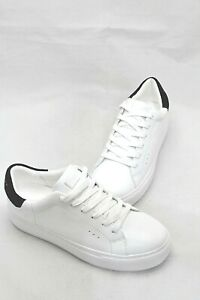 Kurt Geiger Women's White Lace-Up Leather Sneaker Size 6.5