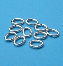 10 Biegeringe oval Ringe 7 x 5 mm 925 Silber Schmuckzubehör Schmuck basteln