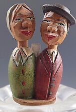 Vintage Anri Italy Wooden Bottle Stopper Young Couple