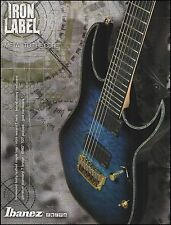 The 2013 Ibanez RG Iron Label 7-string guitar ad 8 x 11 advertisement print