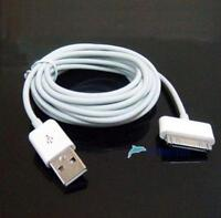 10ft USB Data Sync cable de carga Adaptador 3M para iPad 2 iPhone 4 4S 3GS iPod