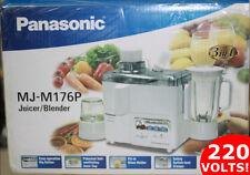 Panasonic MJM-176P 220V 3-In-1 Juicer Blender Grinder 220 Volt Overseas Use
