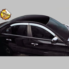 Chrome Window Visors Vent 4pc Set For 00 - 04 Kia Spectra