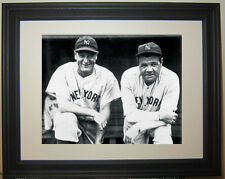 Babe Ruth Lou Gehrig Baseball New York Yankees Framed Photo Picture