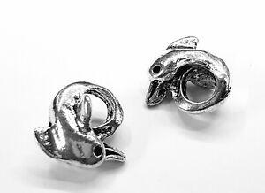 2 versilberte Delphin Charm Perlen Armband Charm Delphin Perlen European Charms