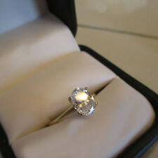 2.50Ct Oval Cut Diamond Solitaire Engagement Wedding Ring 14K Yellow Gold Over
