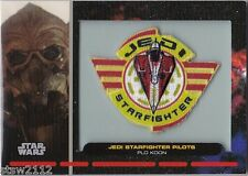 STAR WARS GALACTIC FILES PR-14 EMBROIDERED PATCH JEDI STARFIGHTER PILOT PLO KOON