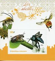 Gabon Stamps 2019 MNH Bees Bee Insects Abeilles 1v S/S