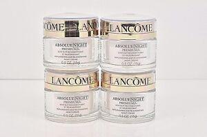 4 Lancome Absolue NIGHT Premium Replenishing Rejuvenate Cream 0.5 oz ea = 2 oz