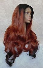 """3"""" Lace X-Long Layered Wave Black/Red Ombre """"FUTURA"""" Full Synthetic Wig - WM2"""