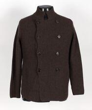 $2550 BRUNELLO CUCINELLI 100% CASHMERE Thick DB Cardigan Sweater - Brown Small