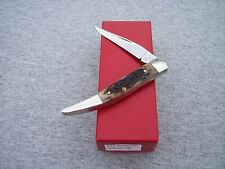 ROBESON * BROWN JIGGED BONE TOOTHPICK KNIFE KNIVES