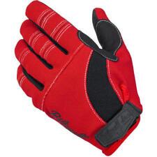 Guantes rojos textiles de verano para motoristas