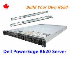 DELL R620 Server 2x E5-2660 8 Core CPU 192GB RAM 2x 600GB SAS H710P Raid w/ Rail