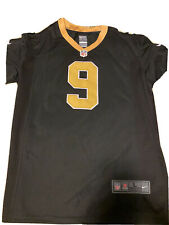 Drew Brees #9 Black NFL Nike Jersey Size L Brand New Without Tags Stitched Logos